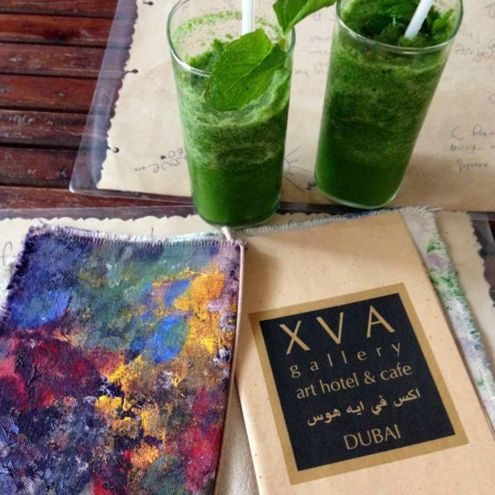 Minute lemonade and a menu that is a piece of art in itself